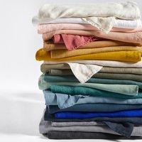 Washed Linen Plain Flat Sheet