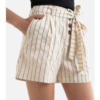 Striped High Waist Shorts.