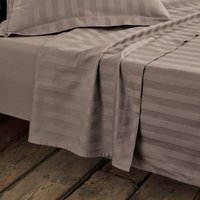 Striped Cotton Satin Flat Sheet