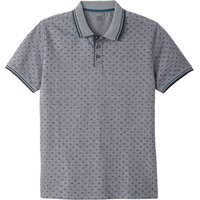 Short-Sleeved Printed Polo Shirt with Polo Collar