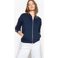 Jacket with Striped Detail on Sleeves