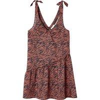 shop for Cami Mini Dress in Zebra Print with Asymmetric Gathered Hem at Shopo