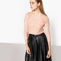 Chunky-Knit Openwork Jumper