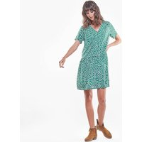 shop for Floral Mini Dress with V-Neck and Short Sleeves at Shopo