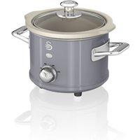 1.5L Slow Cooker Retro Grey