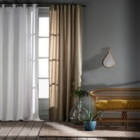 Taïma Linen/Cotton Single Curtain with Eyelets