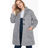 Wool Mix Maternity Coat with Pockets
