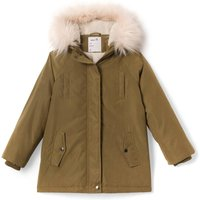Parka with Faux Fur Hood, 3-12 Years