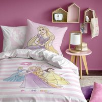 Princesses Striped Cotton Duvet Set.
