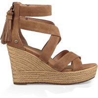 Raquel Leather Wedge Sandals