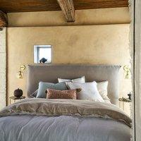 Alhanasia Double Fringe Washed Linen Duvet Cover