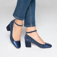 Leather Ballet Pumps with Strap Detail