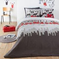 Urban Graph Printed Cotton Duvet Coiver