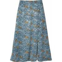 shop for Floral Print Jacquard Midaxi Skirt with Split at Shopo