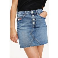 Recycled Denim Buttoned Mini Skirt
