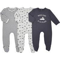Pack of 3 Car Motif Sleepsuits, Birth-3 Years