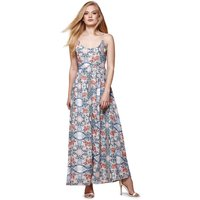 Floral Print Maxi Dress With Shoestring Straps