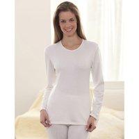 Pigiami bianco donna T-shirt maniche lunghe Thermolactyl® Grado 4
