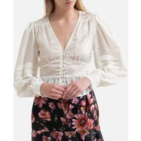 V-Neck Blouse with Long Sleeves