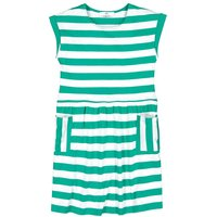 Striped Cotton Dress with Short Sleeves, 3-12 Years