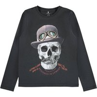 Printed Cotton Mix T-Shirt with Long Sleeves, 7-14 Years.
