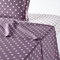 Clarisse Cotton Flat Sheet in Polka Dot Print