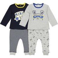 Pijama de manga larga, lote de 2, 0 meses - 3 años
