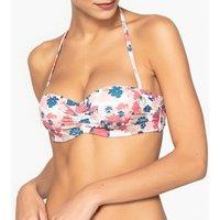 Sujetador de bikini tipo banda con estampado de flores
