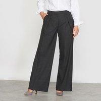 Pantalón ancho con pinzas de franela