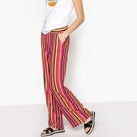 Pantalón ancho a rayas multicolor