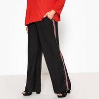 Pantalón loose ancho con bandas a los lados