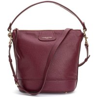 Dune Leather Slouch Bucket Bag with Shoulder Strap