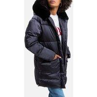 Jktkeaw Padded Puffer Jacket with Faux Fur Hood