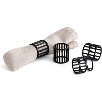 Set of 4 Hiba Metal Wire Napkin Rings