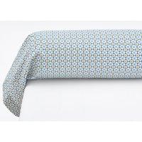 Teyben Floral Cotton Percale Bolster Pillowcase