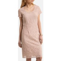 Guipure Lace Shift Dress with Short Sleeves