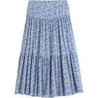 Tiered Maxi Skirt in Floral Print