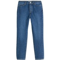 Mid Rise Boyfriend Jeans in Organic Cotton Denim, Length 26.5