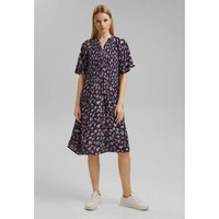 Graphic Print Midi Dress with V-Neck and Short Sleeves