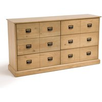 Lindley Solid Pine Chest of 6 Drawers
