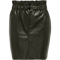 Faux Leather Mini Skirt with  High Waist