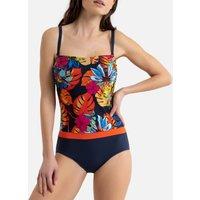 Floral Print Bustier Swimsuit