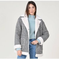 Mid-Length Coat with Inside Faux Fur