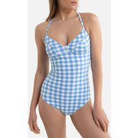 Gingham Halterneck Swimsuit