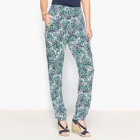 Draping Printed Trousers