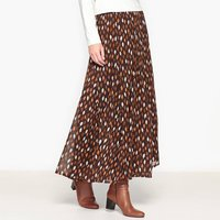 Printed Crinkled Voile Maxi Skirt