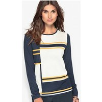 Intarsia Knit Jumper, 50% Merino Wool at La Redoute Catalogue