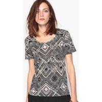 Printed Cotton & Modal T-Shirt