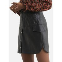 Faux Leather Skirt with High Waist