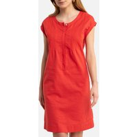 Linen/Cotton Shift Dress with Short Sleeves